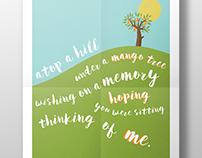 Graphic Illustration Lyric Poster