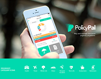 PolicyPal :: Insurance Mobile App, Branding & identity