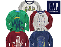 Gap Factory Fall 17 Toddler Boys Graphic Tee Shirts