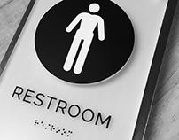 Unique ADA Restroom Signage