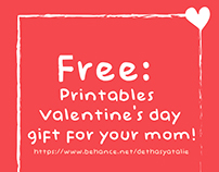 #FREE : Printables Valentine's Day gift for your mom!