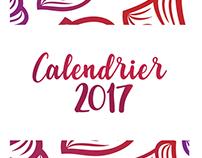 Calendrier 2017 Typographique