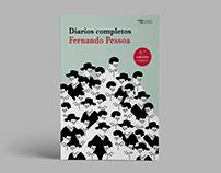 Ilustración de cubierta para libro de Fernando Pessoa