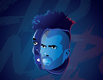 """France Portrait """"Euro 2016"""""""