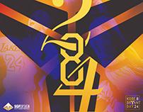 Kobe Bryant Day Typographic Study