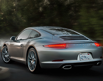 A late afternoon country drive in a Porsche 911