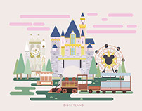 2D Disneyland Illustration