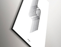 Bebas Neue - optical illusions posters