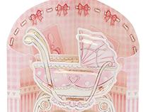 Baby Girl Swing Card