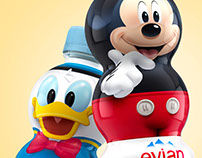 Mickey & Friends Totem Bottles Evian