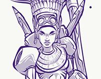 Azteca Moderno on Adobe Draw w Note 9
