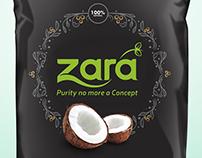 zara coconut oil package design
