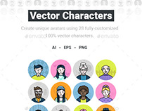 Vector Characters - Avatar Pack
