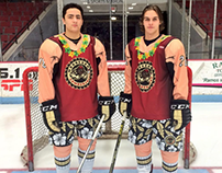 Beach Night Hockey Uniform for the Muskegon Lumberjacks