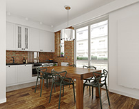 Kitchen 3D visualization