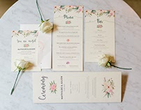 M&J Wedding Website & Stationery