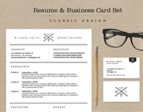 Classic Resume & Business Card Set