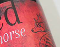 Red Seahorse Wine Label