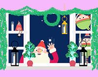Peeping Santa Animation/ Design