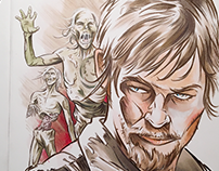 Walking Dead Comic Sketch Covers