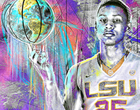 Ben Simmons LSU Artwork