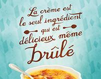Campagne imprimée La Crème