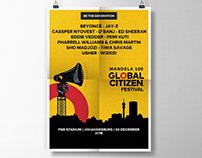 Global Citizen Festival 2018 Admat Design