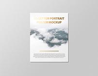 US Letter Flyer / Letterhead Mockup - Foil Stamping Ed