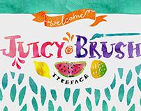 Juicy Brush Typeface