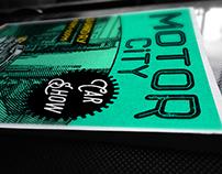 Retro Moto Show Poster