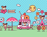 团子大家族甜甜圈卡通形象