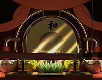 """Lotus Shrine"" 3D Scene"