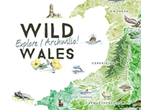Wild Wales: Illustrated Map