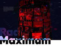 MAXIMUM. Radiostation website.
