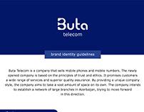 Buta telecom logo branding
