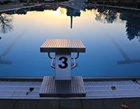 Public swimming pool in November