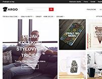 Custom tshirts, gifts website - argo.sk