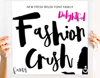 Fashion Crush - Brush Font Family