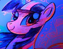 My Little Pony Black Light Twilight Sparkle Sketch