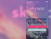SkyApp Login UI Design