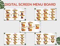 Digital screen menu board
