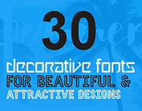 30+ Decorative Fonts for Beautiful & Attractive Design