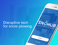 SnoHub. Mobile app for ordering snow clearing service