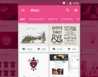 Drizzle - Dribbble app for Android