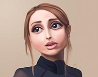"""Zahara""  Digital painting in Photoshop"