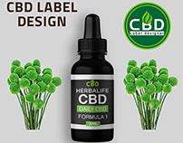 CBD label design with free mockup