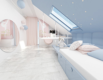 Girls' rooms . Dancer Design . Cracow . Interior Design