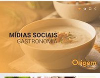 Mídia social gastronomia