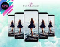 Samsung S8 Creative Mockup PSD Free Download