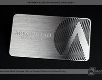 Brushed Stainless Steel Business Cards